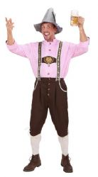 Bavarian Man Costume (Pink Check)